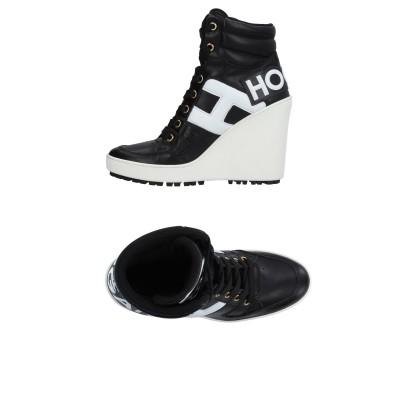 ホーガン HOGAN スニーカー&テニスシューズ(ハイカット) ブラック 34.5 革 スニーカー&テニスシューズ(ハイカット)