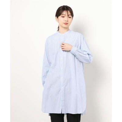 シャツ ブラウス 【ORCIVAL】バンドカラーロングシャツ VQD WOMEN