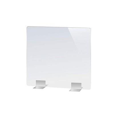透明アクリルパーテーション ステンレス足付 板厚3mm ウイルス対策 飛沫感染防止 デスク用仕切り板 衝立  幅600*