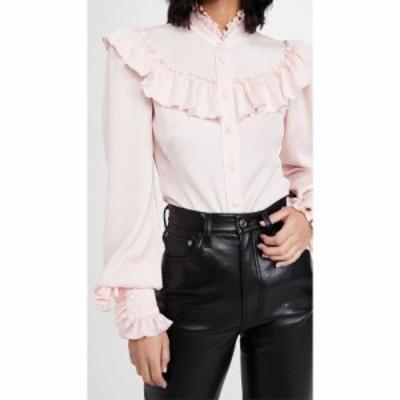 ザ ヴァンパイアズ ワイフ The Vampires Wife レディース ブラウス・シャツ フリル トップス The Frill Seeker Shirt Light Pink Hammere
