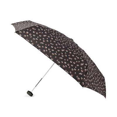 <GROVE(Women)/グローブ> because レオパード折りたたみ傘(晴雨兼用) クロ819【三越伊勢丹/公式】