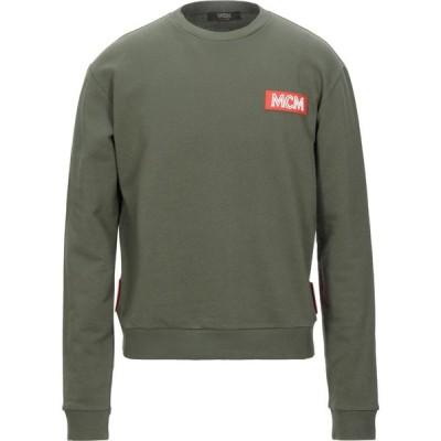 エムシーエム MCM メンズ スウェット・トレーナー トップス sweatshirt Military green