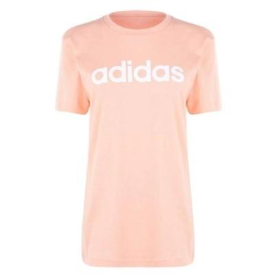 アディダス Tシャツ レディース トップス Womens Essentials Linear T-Shirt Loose
