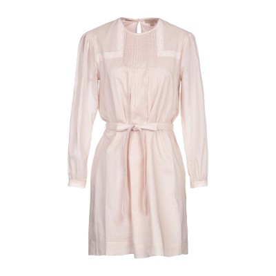 BURBERRY ミニワンピース&ドレス ライトピンク 10 コットン 100% ミニワンピース&ドレス