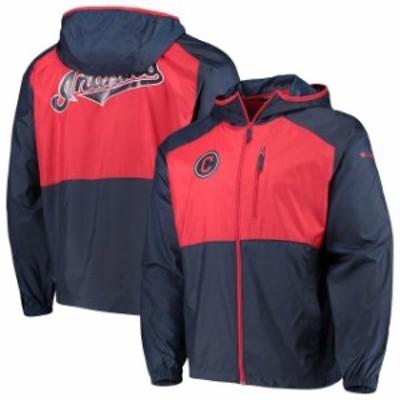 Columbia コロンビア スポーツ用品  Columbia Cleveland Indians Navy Flash Forward Full-Zip Team Windbreaker Jacket