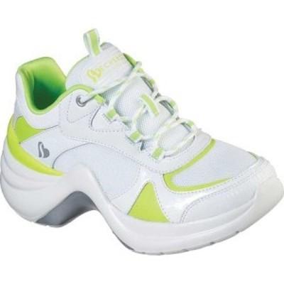 スケッチャーズ Skechers レディース スニーカー シューズ・靴 Solei St. Neon Lights Sneakers White/Lime