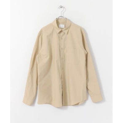 URBAN RESEARCH DOORS/アーバンリサーチ ドアーズ 高密度レギュラーカラーシャツ Beige L