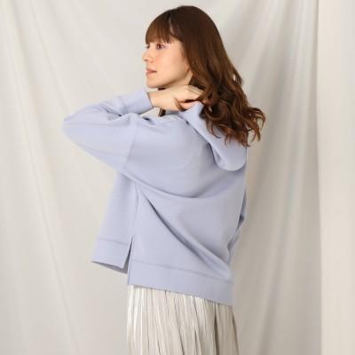 クチュール ブローチ Couture brooch 【かろやかな着心地】Whip Wrap Hoodie (サックス)