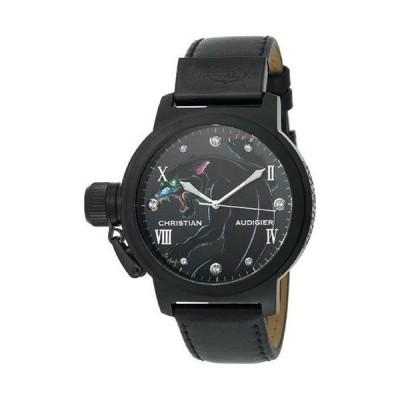Christian Audigier Unisex ETE-105 Eternity Black Panther Ion-Plating Black Watch 並行輸入品