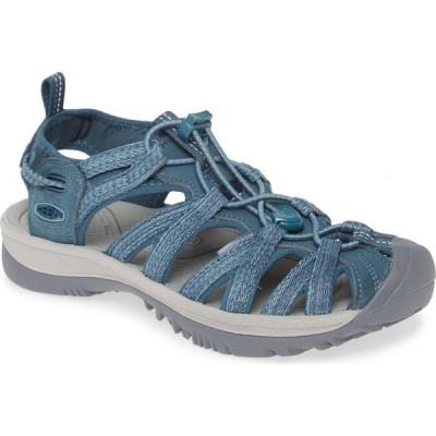キーン KEEN レディース サンダル・ミュール スポーツサンダル シューズ・靴 'Whisper' Water Friendly Sport Sandal Smoke Blue Fabric