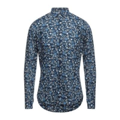 UNGARO シャツ ダークブルー 39 コットン 100% シャツ