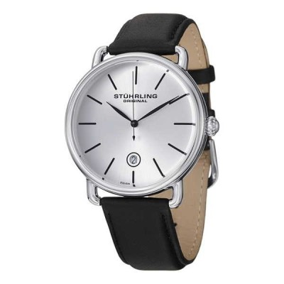 ストゥーリングオリジナル腕時計Stuhrling Original Ascot メンズ デザイナー 腕時計 - スイス クォーツ レザー  768.01