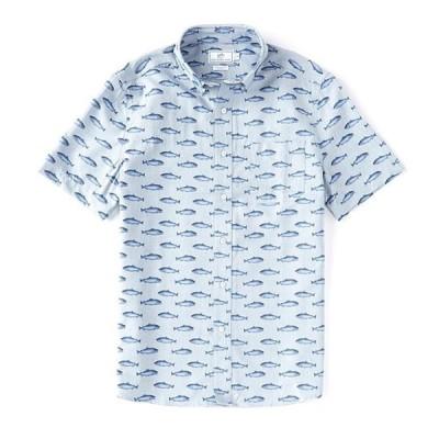 サウザーンタイド メンズ シャツ トップス Intercoastal Gyorui Print Short-Sleeve Woven Shirt