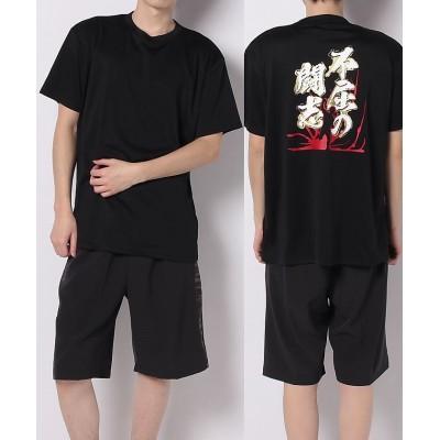 (s.a.gear/エスエーギア)エスエーギア/メンズ/半袖メッセージTシャツ  不屈の闘志/メンズ ブラック