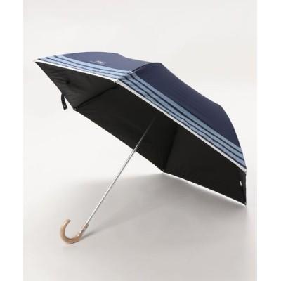 """MOONBAT / 晴雨兼用折りたたみ傘 """"ボーダーグログラン"""" WOMEN ファッション雑貨 > 折りたたみ傘"""