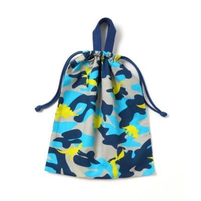 エコバッグ バッグ [ボーイズ]迷彩恐竜プリント体操着袋