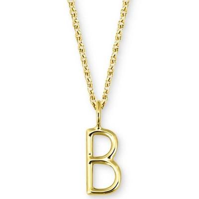 """サラクロエ ネックレス・チョーカー・ペンダントトップ アクセサリー レディース Amelia Initial 16"""" Pendant Necklace in 14K Gold B"""