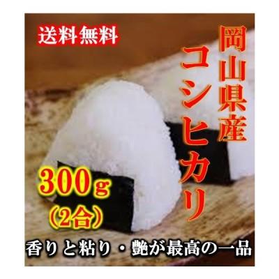 米 ポイント消化 送料無料 お試し お米 食品 安い 1kg以下 令和2年産 岡山県産コシヒカリ 300g(2合)1袋 メール便