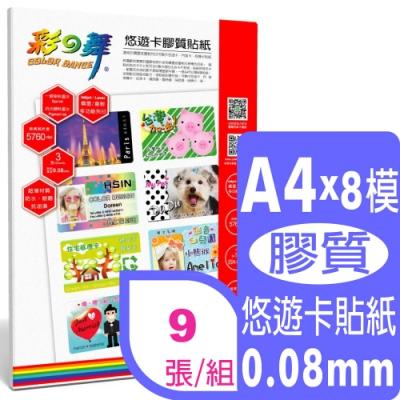 彩之舞 A4 悠遊卡膠質貼紙 HY-H110*3包