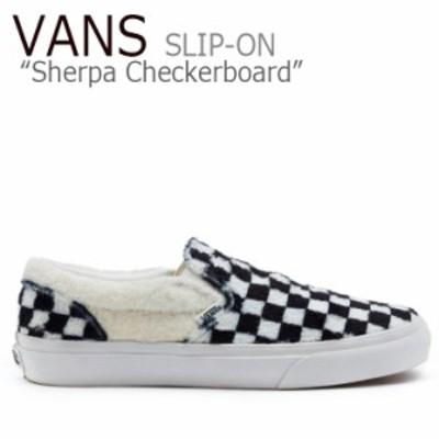 バンズ スリッポン スニーカー VANS WINNTER COLLECTION Sherpa Checkerboard SLIP-ON ウィンター チェッカー VN0A38F7Q0X1 シューズ