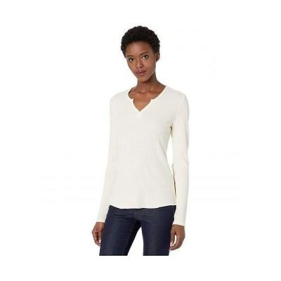 Alternative オルタネイティブ レディース 女性用 ファッション Tシャツ Split-Neck Long Sleeve Thermal Tee - Vintage Canvas