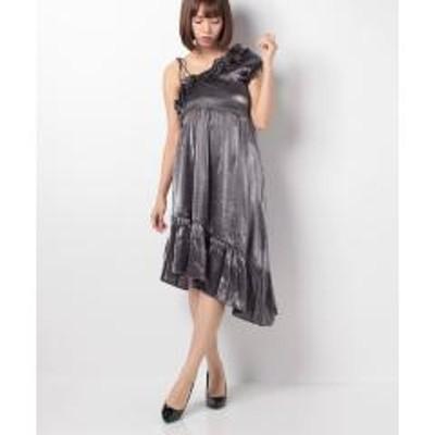 INTERPLANET(インタープラネット)【GHOSPELL】Gunmetal Off Shoulder Dress