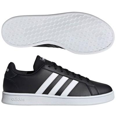 アディダス (adidas) GRANDCOURT BASE(コアブラック×ランニングホワイト×ランニングホワイト) EE7900 [分類:メンズファッション スニーカー ローカット]