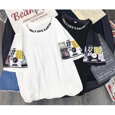 レディースTシャツ半袖ダンス衣装HIPHOPダンス衣装レディーストップス半袖ヒップホップ