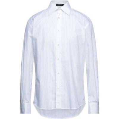 ヴェルサーチ VERSACE メンズ シャツ トップス Striped Shirt White