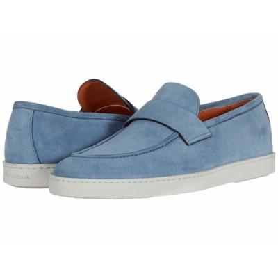 サントーニ スニーカー シューズ メンズ Pace Sneaker Blue Suede