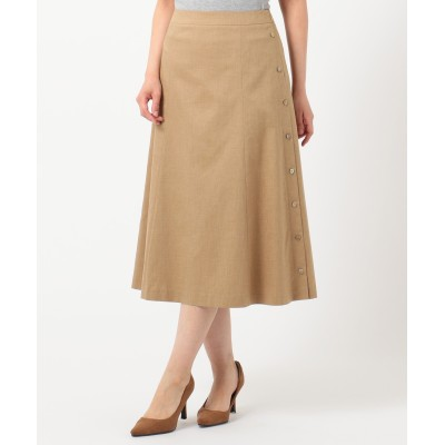【シワになりにくい】洗えるFITTY FLAX スカート
