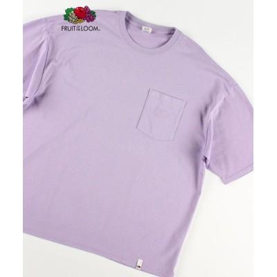 【ノーリーズ】  刺しゅうポケット付 ビッグシルエット Tシャツ メンズ ラベンダー M NOLLEY'S
