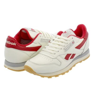 Reebok CL LEATHER INNERSECT リーボック クラシックレザー VINTAGE OFF WHITE/EXCELLENT RED/GREY dv6822