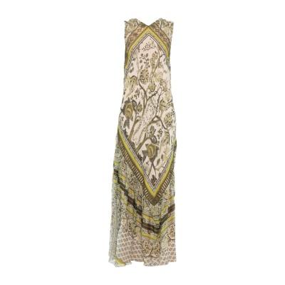 アルベルタ フェレッティ ALBERTA FERRETTI ロングワンピース&ドレス ミリタリーグリーン 44 シルク 100% ロングワンピース&