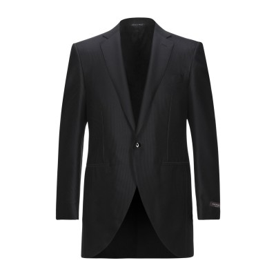 カナーリ CANALI テーラードジャケット ブラック 50 ウール 60% / シルク 40% テーラードジャケット