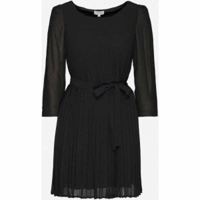 クローディ ピエルロ CLAUDIE PIERLOT レディース ワンピース ミドル丈 ワンピース・ドレス Rififiplissee crepe midi dress BLACK