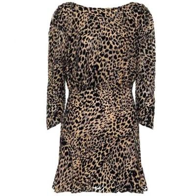 リキソ Rixo レディース ワンピース ワンピース・ドレス Kyla printed silk-blend minidress Leopard Burnout