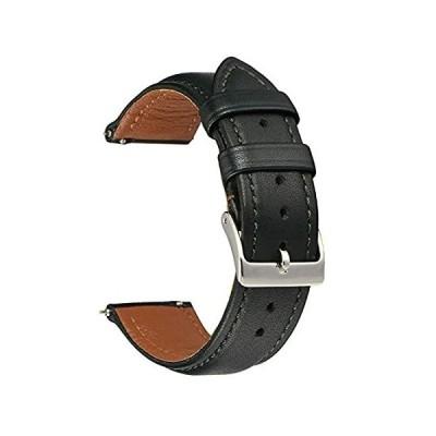 特別価格EACHE 18mm Dark Green Leather Watch bands for Men Women ,Quick Release Full好評販売中