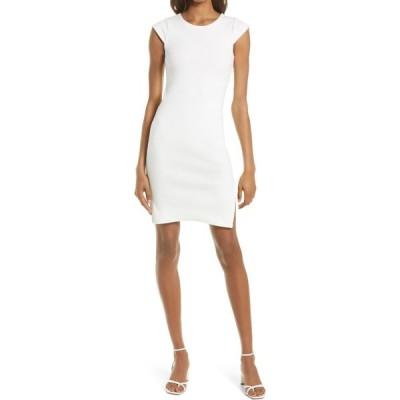 スティーブ マデン BB DAKOTA BY STEVE MADDEN レディース ボディコンドレス ワンピース・ドレス Sips Tee Body-Con Dress Optic White