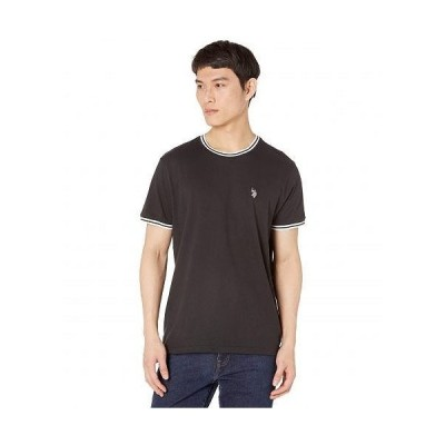 U.S. POLO ASSN. USポロ メンズ 男性用 ファッション Tシャツ Crew Neck Ringer Tee - Black