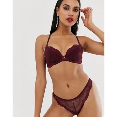 ゴサード レディース ブラジャー アンダーウェア Gossard Superboost lace non padded plunge bra in fig