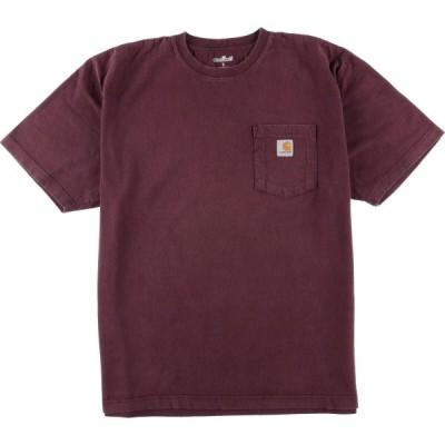 カーハート ワンポイントロゴポケットTシャツ L /eaa015544