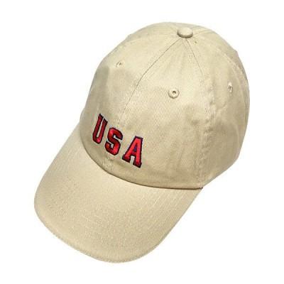 ツイルキャップ ナチュラル USA 刺繍 洗い加工 野球帽 アメカジ