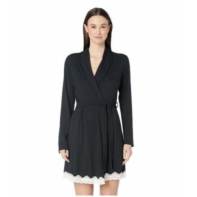 エバージェイ ナイトウェア アンダーウェア レディース Lady Godiva Robe Black/Off-White