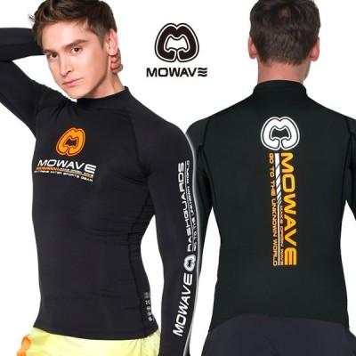 MOWAVE モワビ ラッシュガード トレビ ブラック メンズ 男性 長袖 ビーチウェア アンダーウェア UVカット UPF50+