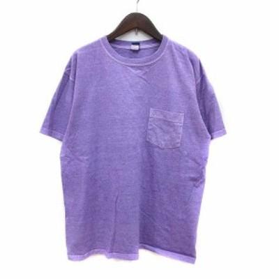 【中古】グッドオン GOOD ON カットソー Tシャツ クルーネック 半袖 L 紫 パープル /KB メンズ