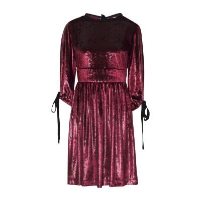 ジョージ ジェイ ラブ GEORGE J. LOVE ミニワンピース&ドレス ボルドー XS ポリエステル 100% ミニワンピース&ドレス