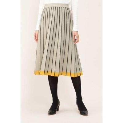 NATURAL BEAUTY / ◆ボーダープリーツスカート