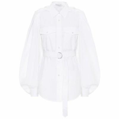 J.W.アンダーソン JW Anderson レディース ブラウス・シャツ トップス Belted cotton shirt White