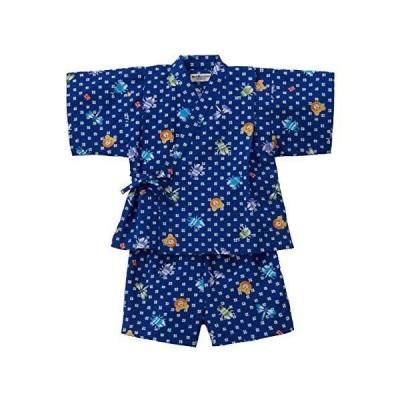 [ミキハウス ホットビスケッツ] 甚平スーツ 72-7501-822 (110cm, 紺)